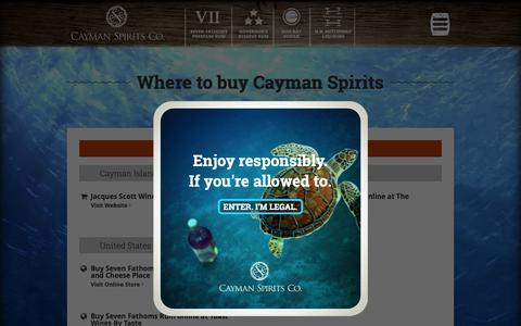 Screenshot of Locations Page caymanspirits.com - Cayman Spirits Co. | Grand Cayman's Handcrafted Spirits |   Locations - captured Sept. 27, 2018