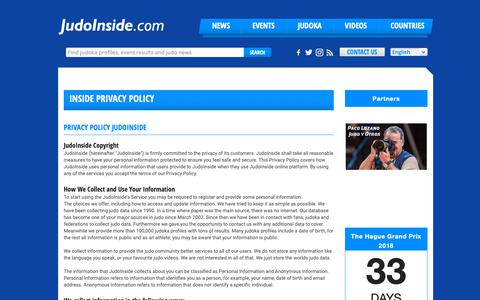 Screenshot of Privacy Page judoinside.com - JudoInside - Page Contact - captured Oct. 14, 2018