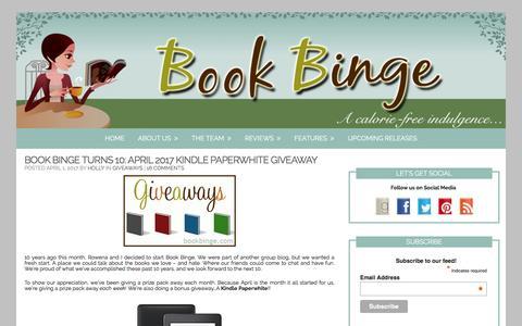Book Binge – Page 3 – …a calorie-free indulgence