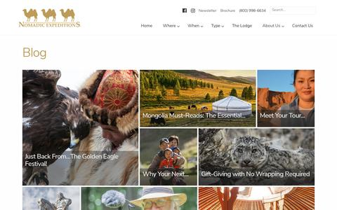 Screenshot of Blog nomadicexpeditions.com - Nomadic Expeditions Blog | Luxury Journeys Mongolia, Bhutan, Tibet - captured Nov. 14, 2017