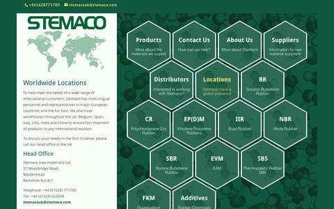 Screenshot of Locations Page stemaco.com - Stemaco Worldwide Locations - Stemaco Raw Materials - captured Dec. 17, 2016
