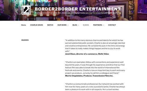 Screenshot of Testimonials Page border2border.ca - KUDOS | Border2Border Entertainment - captured Oct. 6, 2018