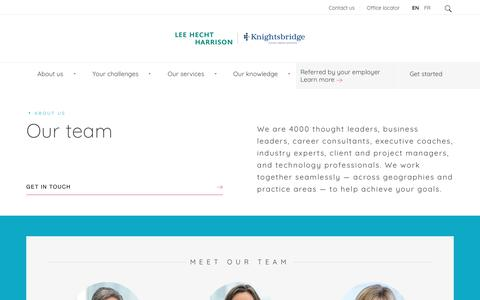 Screenshot of Team Page lhh.com - Meet The Executive Team At Lee Hecht Harrison, Ready To Achieve Your Goals - captured Sept. 22, 2018