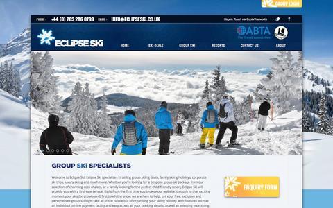 Screenshot of Home Page eclipseski.co.uk - Home - Eclipse Ski - captured Sept. 27, 2014