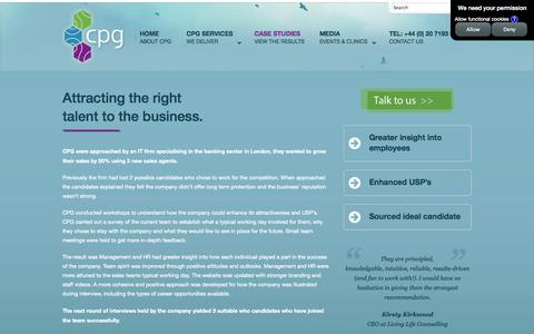 Screenshot of Case Studies Page cpgexp.com - CASE STUDIES | CPG Group - captured Oct. 1, 2014