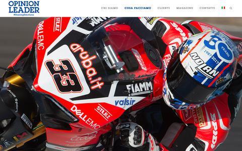 Screenshot of Team Page opinionleader.it - Management - Agenzia Creativa - Digital Marketing - PR - captured Oct. 19, 2018