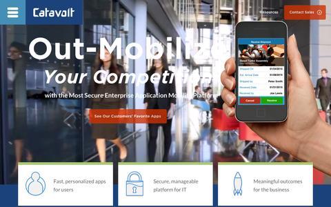 Screenshot of Home Page catavolt.com - Catavolt Mobile App Development: Enterprise Mobility - captured Dec. 3, 2015