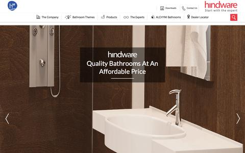 Screenshot of Products Page hindwarehomes.com - Sanitaryware Products - Manufacturers & Suppliers in India | Hindwarehomes.com - captured Sept. 24, 2018