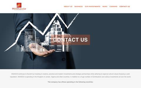 Screenshot of Contact Page snasco.com - Contact Us - Snasco Holding - captured Nov. 5, 2018