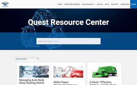 Screenshot of Blog questrmg.com - Quest Resource Center - captured Sept. 19, 2018