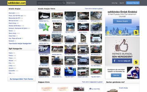 Kiralık Araçlar Kiralık Oto, Araba, Minivan ve Motosikletler sahibinden.com'da