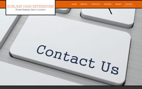 Screenshot of Contact Page sublimehairextensions.co.uk - Hair Extensions London Contact - captured Oct. 7, 2014