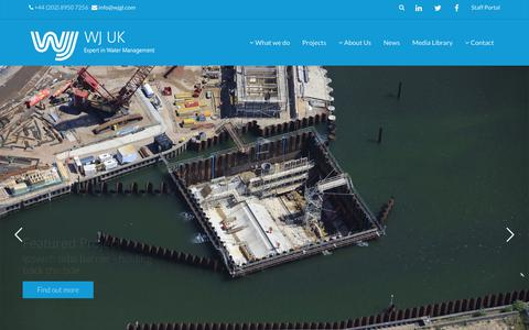 Screenshot of Home Page wjgl.com - WJ UK | Expert in Water Management - captured Oct. 18, 2018