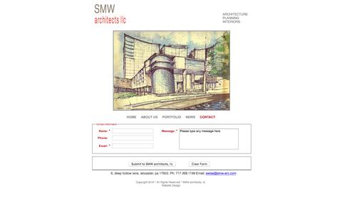 Screenshot of Contact Page smw-arc.com - Contacting SMW architects - captured Feb. 3, 2016