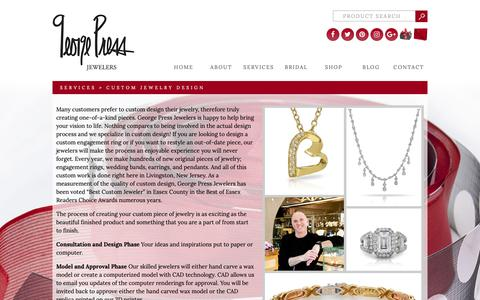 Screenshot of Services Page georgepress.com - Custom Jewelry Design - George Press - captured Sept. 27, 2018