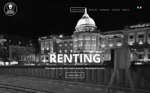 Screenshot of Home Page infinitiproperties.com - Rent Buy Sell Invest In Flats & Houses Estate Agents Glasgow - captured Nov. 26, 2016
