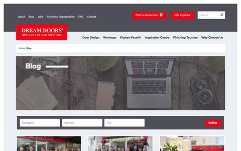 Screenshot of Blog dreamdoors.co.uk - Read our Blog on Kitchens, Doors and everything related - Dream Doors - captured Jan. 19, 2018