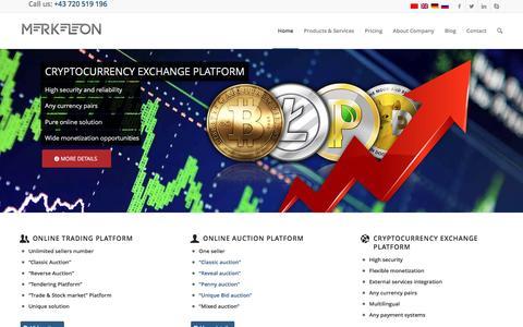 Screenshot of Home Page merkeleon.at - B2B Online Marketplace Software   Merkeleon - captured Jan. 25, 2017