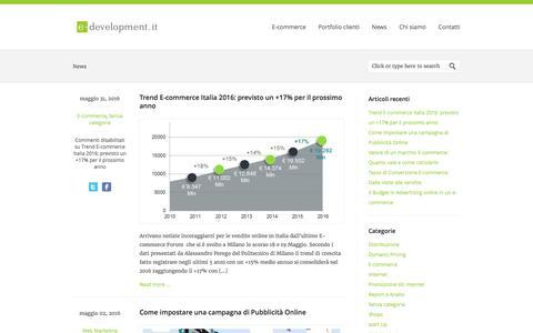 Screenshot of Press Page e-development.it - News E-commerce e Start Up - E-development E-development.it - captured Sept. 30, 2016
