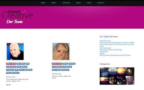Screenshot of Team Page dorsetcreative.co.uk - Our Team - Dorset Creative | Digital Agency | Bournemouth | Poole | Dorset - captured Sept. 30, 2014