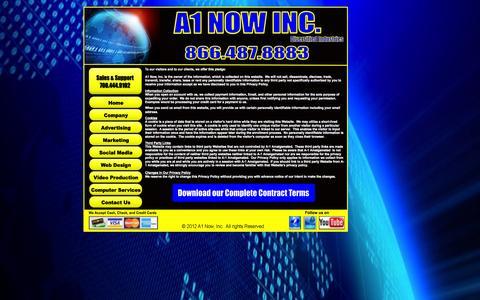 Screenshot of Terms Page a1nowinc.com - Legal Documentation, A1 Now, Inc. - captured Sept. 30, 2014