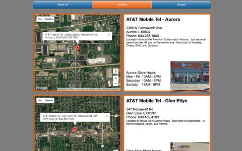 Screenshot of Locations Page mobiletelltd.com - AT&T Mobile Tel - Locations - captured Sept. 9, 2016
