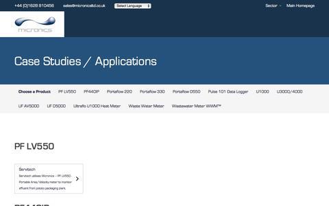 Screenshot of Case Studies Page micronicsflowmeters.com - Case Studies - Micronics - captured Aug. 4, 2018