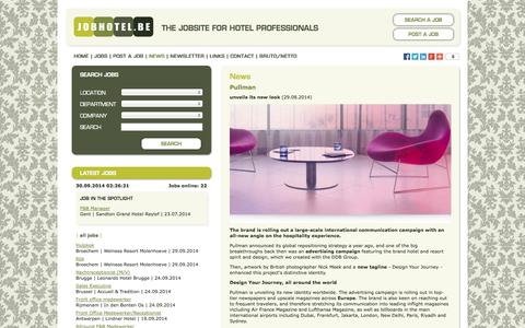 Screenshot of Press Page jobhotel.be - Jobhotel.be | The jobsite for hotel professionals - captured Sept. 30, 2014