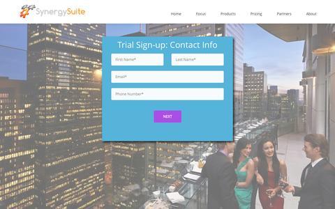 Screenshot of Trial Page synergysuite.com - SynergySuite - captured Nov. 5, 2014