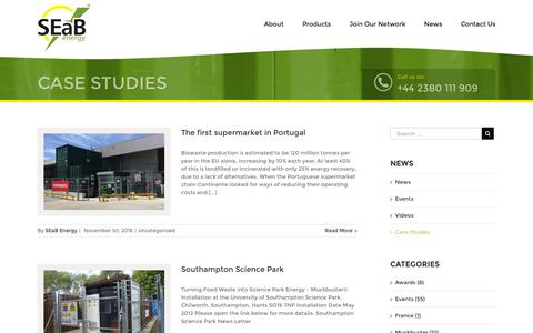 Screenshot of Case Studies Page seabenergy.com - Case Studies – SEAB Energy - captured Nov. 17, 2016