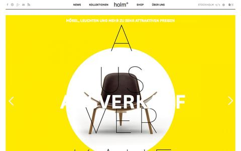 Screenshot of Home Page holmsweetholm.com - Home | holm° - captured Sept. 18, 2015