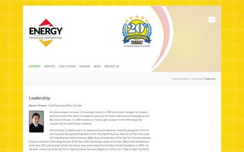 Screenshot of Team Page energy-industries.com - Energy Industries Corporation Leadership - captured Oct. 2, 2014
