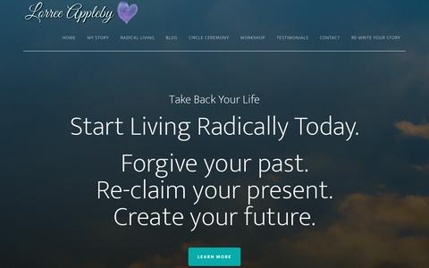 Screenshot of Home Page ourpurposefuljourney.com - Lorree Appleby – Forgiveness is Freedom - captured May 7, 2017