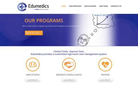 Screenshot of Home Page edumedics.com - Home   Edumedics - captured July 3, 2015