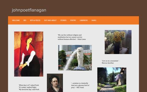 Screenshot of Home Page johnpoetflanagan.com - johnpoetflanagan - captured March 16, 2016