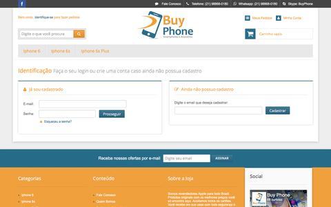 Screenshot of Login Page buyphone.com.br - Buy Phone - Smartphones e Acessórios - captured Nov. 23, 2016