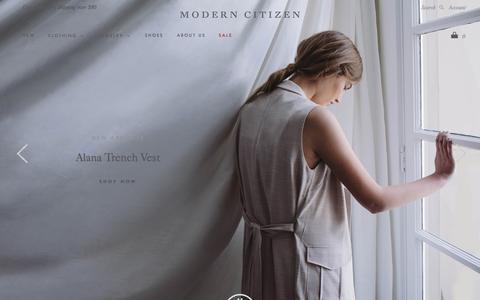 Screenshot of Home Page modern-citizen.com - Modern Citizen - captured July 15, 2015