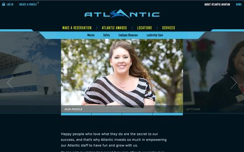 Screenshot of About Page atlanticaviation.com - Atlantic Aviation - About the FBO, Atlantic Attitude & Quality Service - captured Oct. 10, 2014