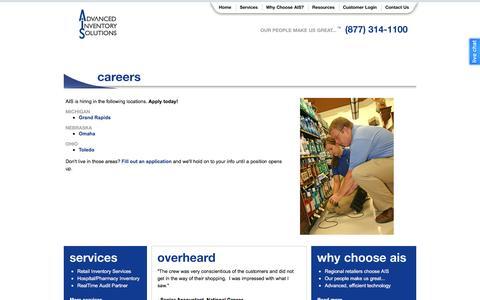 Screenshot of Jobs Page aisservice.com - Audit Jobs, Employment: Careers at AIS - captured Feb. 5, 2016