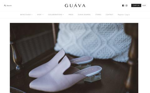 Screenshot of Home Page guava.shoes - Architectural Shoes – G U A V A - captured Sept. 26, 2018