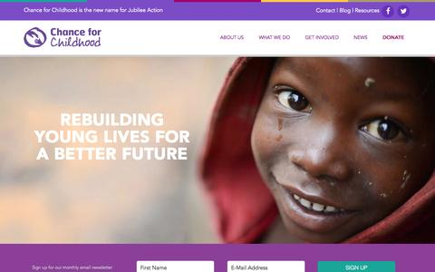 Screenshot of Case Studies Page chanceforchildhood.org - Chance for Childhood | Children's charity - captured Oct. 9, 2014