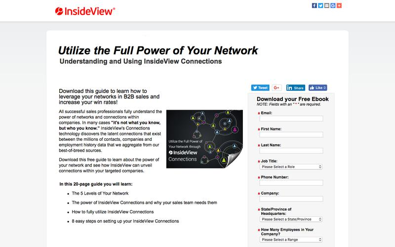 Utilize the Full Power of Your Network: Understanding and Using InsideView Connections