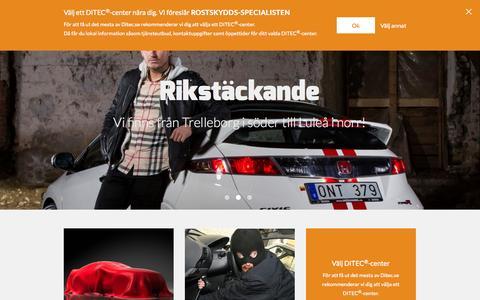 Screenshot of Home Page ditec.se - DITEC® bilvård - Sveriges största bilvårdskedja. - captured Sept. 24, 2014