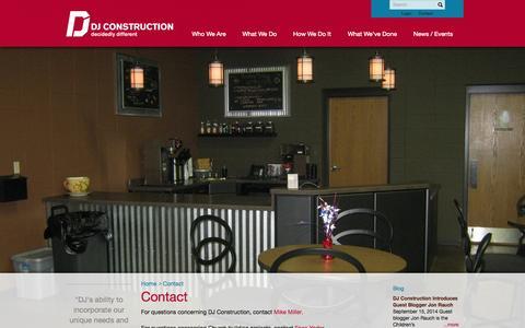 Screenshot of Contact Page djconstruction.com - Contact - DJ Construction : DJ Construction - captured Oct. 5, 2014