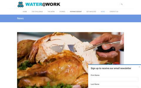 Screenshot of Press Page wateratworkministry.org - News - Water at Work Ministry - captured Nov. 28, 2016