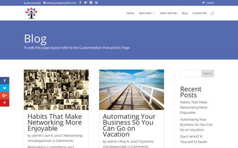Screenshot of Blog yourgotoadmin.com - Blog - Your Admin Expert - captured Oct. 20, 2018