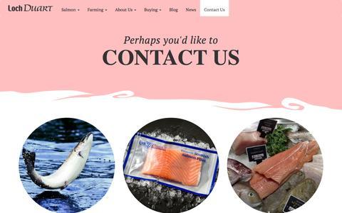 Screenshot of Contact Page lochduart.com - Loch Duart - captured Jan. 31, 2016