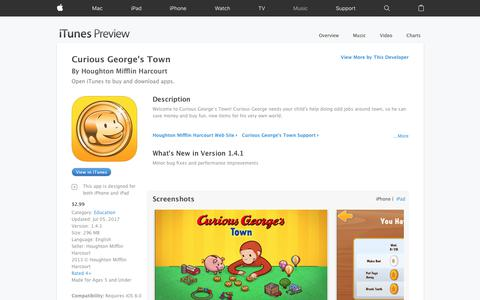 Curious George's Town on the App Store