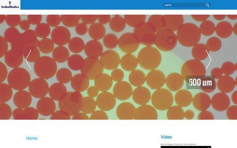 Screenshot of Home Page embomedics.com - EmboMedics - captured Dec. 9, 2015