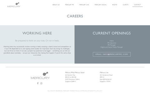 Screenshot of Jobs Page mercurymc.com - Careers - Mercury - captured Nov. 12, 2018